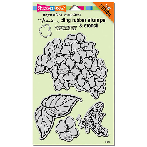 Stampendous - Cling Mounted Rubber Stamps - Jumbo - Hydrangea Garden