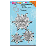 Stampendous - Cling Mounted Rubber Stamps - Jumbo - Delicate Snow