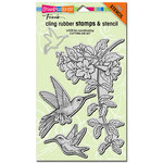 Stampendous - Cling Mounted Rubber Stamps - Hummingbirds