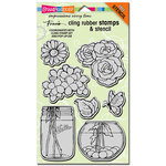 Stampendous - Cling Mounted Rubber Stamps - Build a Bouquet