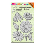 Stampendous - Cling Mounted Rubber Stamps - Daisy Mix