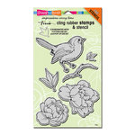 Stampendous - Cling Mounted Rubber Stamps - Bird Blossom