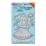 Stampendous - Cling Mounted Rubber Stamps - Mermaid Friends