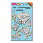 Stampendous - Cling Mounted Rubber Stamps - Seashells