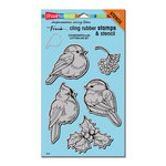 Stampendous - Cling Mounted Rubber Stamps - Winter Tweets