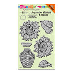 Stampendous - Cling Mounted Rubber Stamps - Sunny Vase