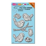 Stampendous - Cling Mounted Rubber Stamps - Spring Tweets