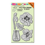 Stampendous - Cling Mounted Rubber Stamps - Pretty Poppies