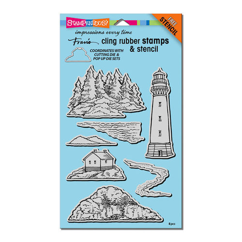 Stampendous - Cling Mounted Rubber Stamps - Build a Lighthouse