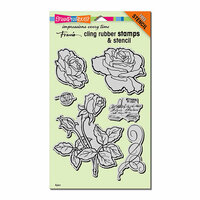 Stampendous - Cling Mounted Rubber Stamps - Rose Garden