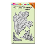 Stampendous - Cling Mounted Rubber Stamps - Dutch Tulips