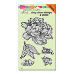 Stampendous - Cling Mounted Rubber Stamps - Fresh Peony