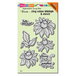 Stampendous - Cling Mounted Rubber Stamps - Coneflower
