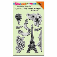 Stampendous - Cling Mounted Rubber Stamps - Paris Bonjour
