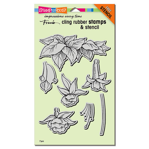 Stampendous - Cling Mounted Rubber Stamps - Fuchsia Trio