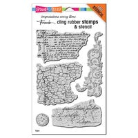 Stampendous - Cling Mounted Rubber Stamps - Grunge Script Set