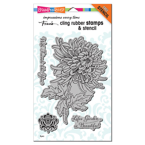Stampendous - Cling Mounted Rubber Stamps - Garden Mum