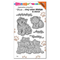 Stampendous - Cling Mounted Rubber Stamps - Kitten Hugs