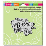 Stampendous - Cling Mounted Rubber Stamps - Superstar Birthday