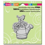 Stampendous - Cling Mounted Rubber Stamps - Watering Can Bird