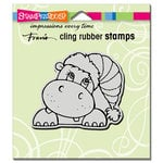 Stampendous - Christmas - Cling Mounted Rubber Stamps - Hippo Holiday