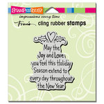 Stampendous - Christmas - Cling Mounted Rubber Stamps - Joy and Love