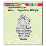 Stampendous - Christmas - Cling Mounted Rubber Stamps - Savior Born