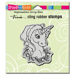 Stampendous - Christmas - Cling Mounted Rubber Stamps - Unicorn Christmas