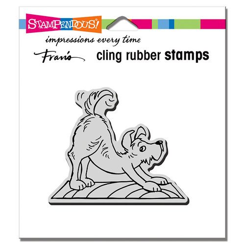 Stampendous - Cling Mounted Rubber Stamps - Downward Dog