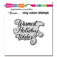 Stampendous - Christmas - Cling Mounted Rubber Stamps - Warmest Holiday
