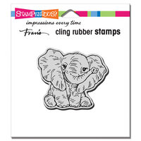 Stampendous - Cling Mounted Rubber Stamps - Petite Pachyderm