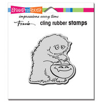 Stampendous - Halloween - Cling Mounted Rubber Stamps - Big Foot Treat