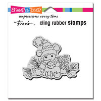 Stampendous - Cling Mounted Rubber Stamps - Apple Mouse