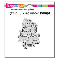 Stampendous - Cling Mounted Rubber Stamps - Love Laughter