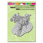 Stampendous - Cling Mounted Rubber Stamps - Bicycle Basket