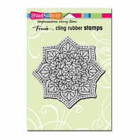 Stampendous - Cling Mounted Rubber Stamps - Mandala Flower