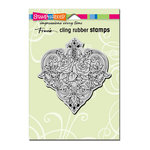 Stampendous - Cling Mounted Rubber Stamps - Heart Vines