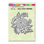 Stampendous - Cling Mounted Rubber Stamps - Mum Blossoms