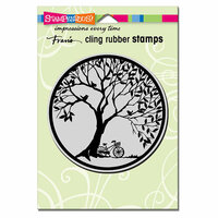 Stampendous - Cling Mounted Rubber Stamps - Tree Circle