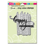 Stampendous - Cling Mounted Rubber Stamps - Candle Wish