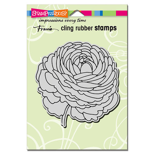 Stampendous - Cling Mounted Rubber Stamps - Single Ranunculus