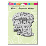 Stampendous - Cling Mounted Rubber Stamps - Without Cake