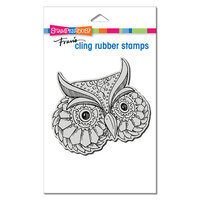 Stampendous - Cling Mounted Rubber Stamps - Metallic Owl