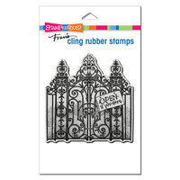Stampendous - Halloween - Cling Mounted Rubber Stamps - Haunted Gates