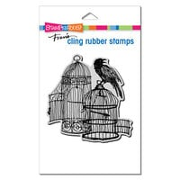 Stampendous - Halloween - Cling Mounted Rubber Stamps - Uncaged Raven
