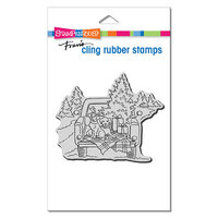 Stampendous - Christmas - Cling Mounted Rubber Stamps - Truck Ride