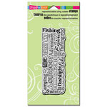 Stampendous - Cling Mounted Rubber Stamps - Camping Words