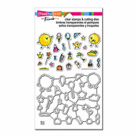 Stampendous - Die and Clear Acrylic Stamp Set - Everyday Chicks