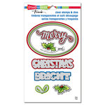 Stampendous - Die and Clear Acrylic Stamp Set - Christmas Bright