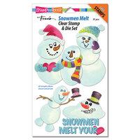 Stampendous - Christmas - Die Set - Snowmen Melt